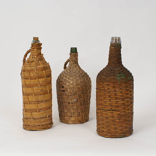 Set of Vintage Bottle and Cover